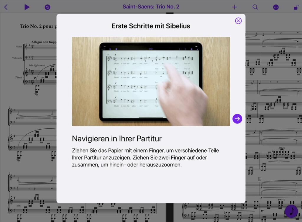 Sibelius für Mobile - erste Schritte